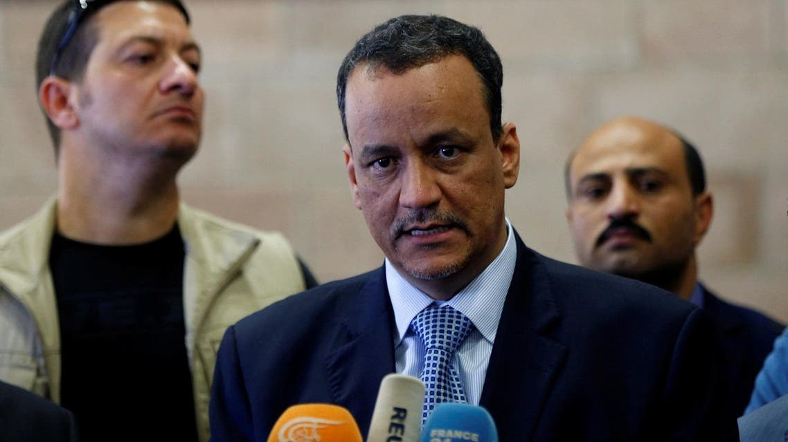 United Nations Special Envoy for Yemen, Ismail Ould Cheikh Ahmed, speaks to reporters upon his arrival at Sanaa airport on a visit to Sanaa, Yemen May 22, 2017. REUTERS/Khaled Abdullah