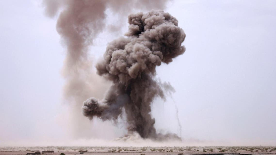 The bomb was planted on a road and hit a civilian car. (Reuters)