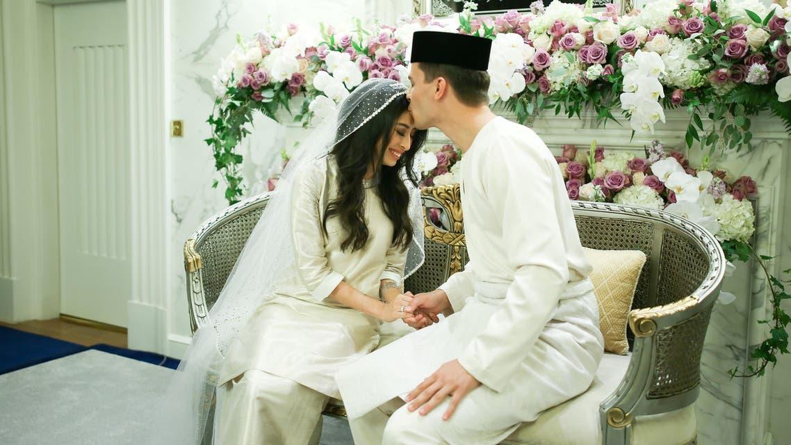 Princess Tunku Tun Aminah Sultan Ibrahim wedding 1. (File photo: AFP)