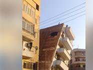 على غرار بيت الإسكندرية المائل..شاهد انهيار منزل بسوهاج