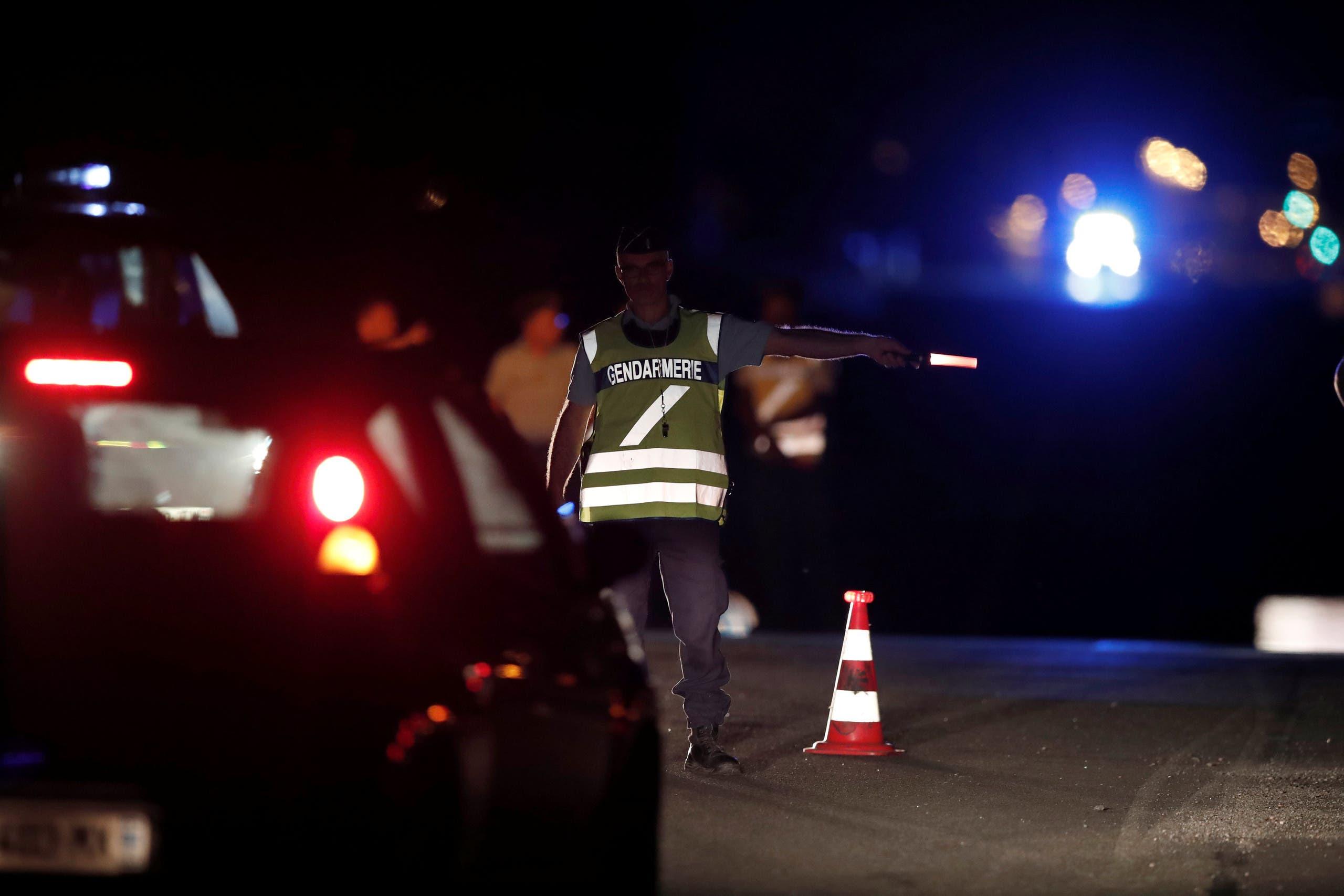 الشرطة قرب موقع الحادث