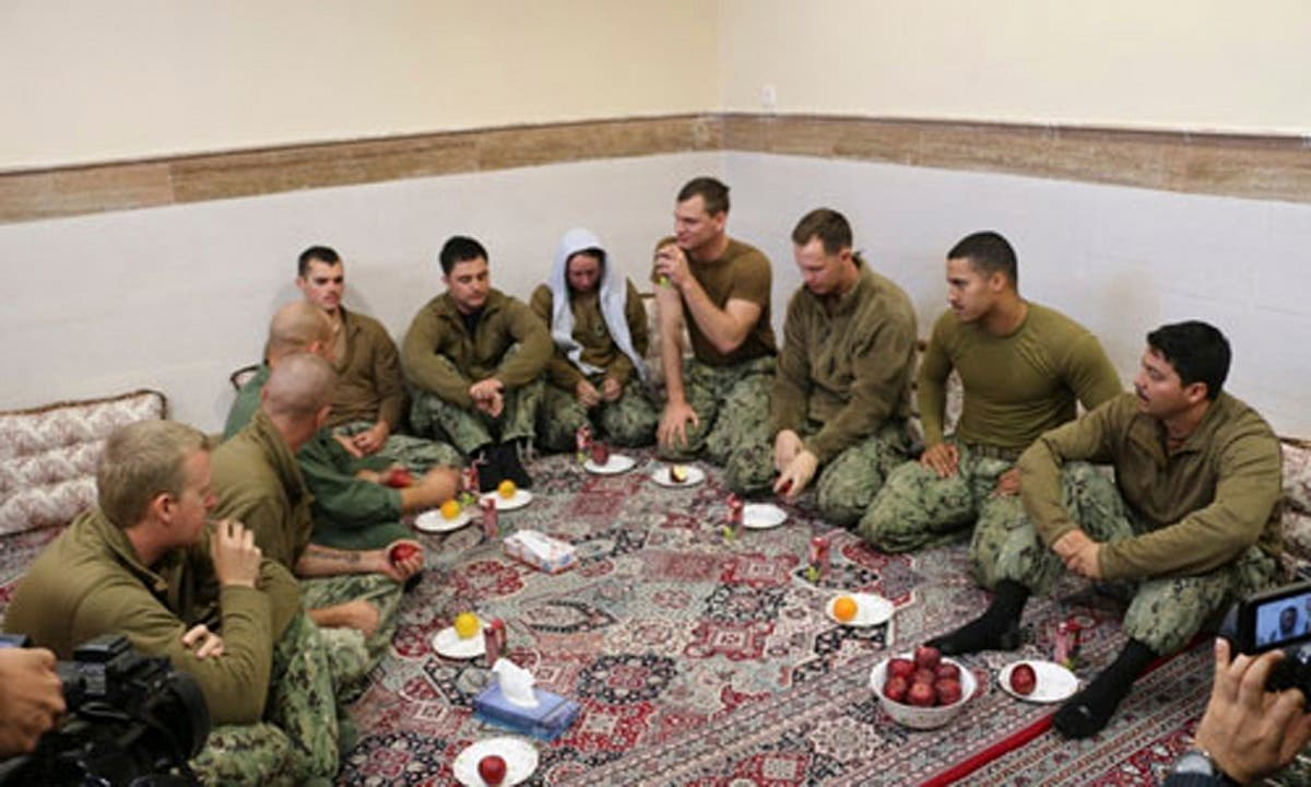 Captured US Sailors in Iran (AP)