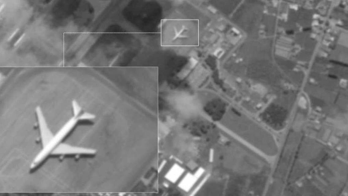من صور الأقمار الصناعية عن هبوط طائرة بوينغ إيرانية في قاعدة حميميم الروسية في سوريا