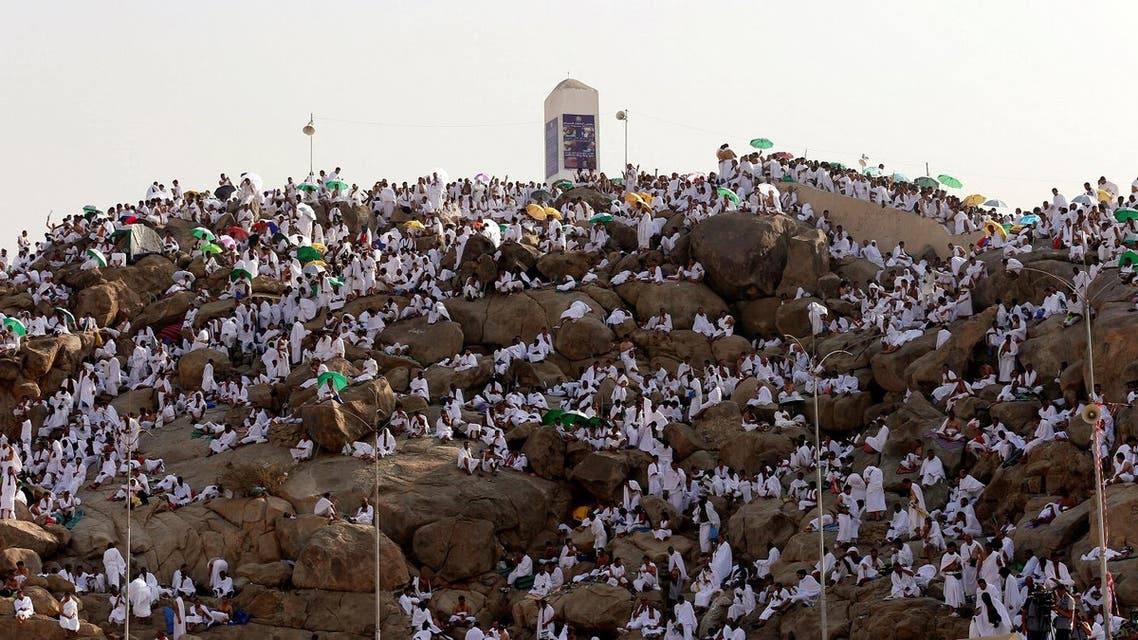 Muslim pilgrims gather on Mount Mercy on the plains of Arafat during the annual haj pilgrimage, outside the holy city of Mecca, Saudi Arabia. Reuters