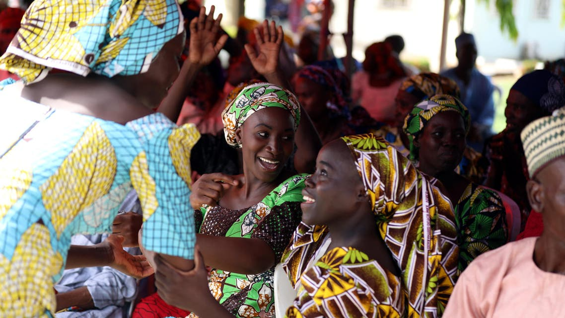 Newly released 82 Chibok school girls reunite with their families in Abuja, Nigeria May 20, 2017. (Reuters)