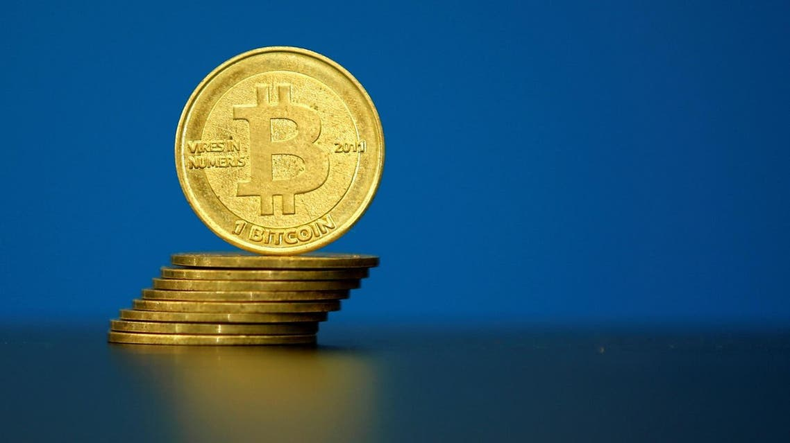 Bitcoin (virtual currency) coins are seen in an illustration picture taken at La Maison du Bitcoin in Paris, France, May 27, 2015. (Reuters)