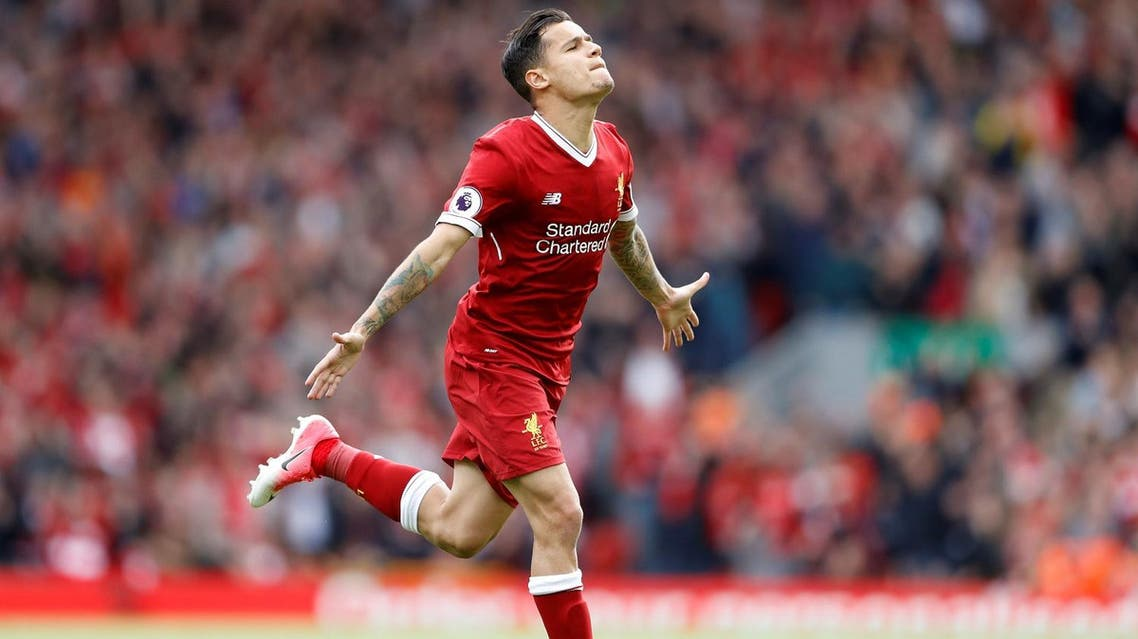 Liverpool's Philippe Coutinho celebrates a goal. (Reuters)