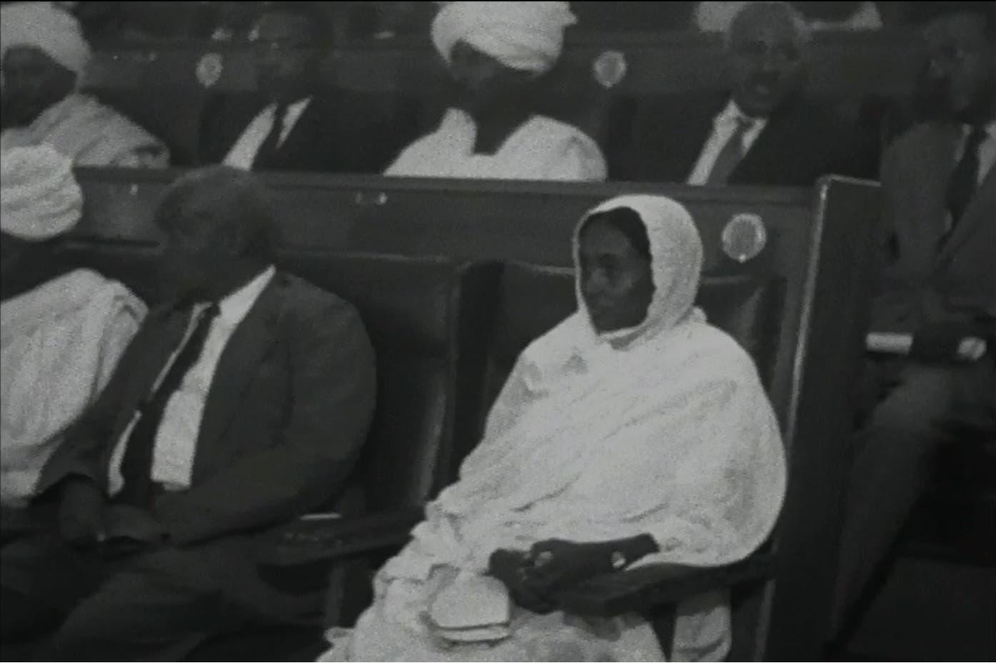 Fatima Ahmed Ibrahim 1965 in Parliament (Reuters)