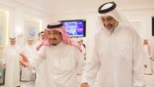 King Salman receives Sheikh Abdullah bin Ali Al-Thani