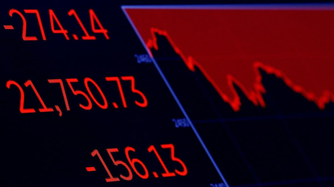 A screen displays the Dow Jones Industrial Average after the closing bell on the floor of the New York Stock Exchange on August 17, 2017. (Reuters)
