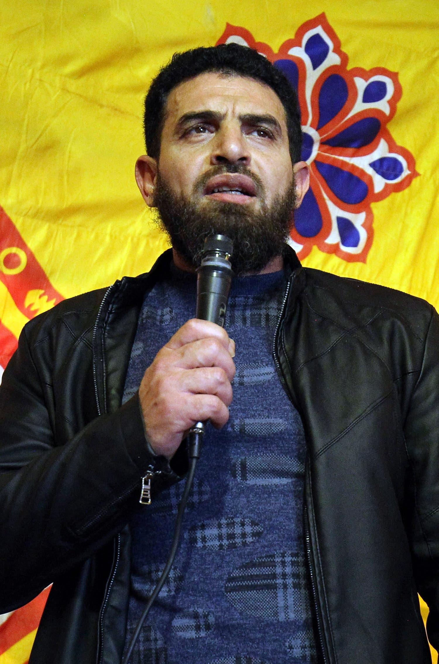 A picture taken on January 26, 2017 shows Mahmoud al-Werfalli speaking in Benghazi. (AFP)