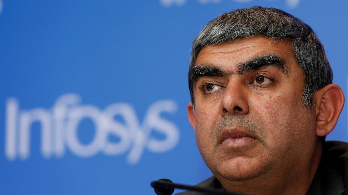 Infosys Chief Executive Vishal Sikka at a news conference in Mumbai, India, February 13, 2017. (Reuters)