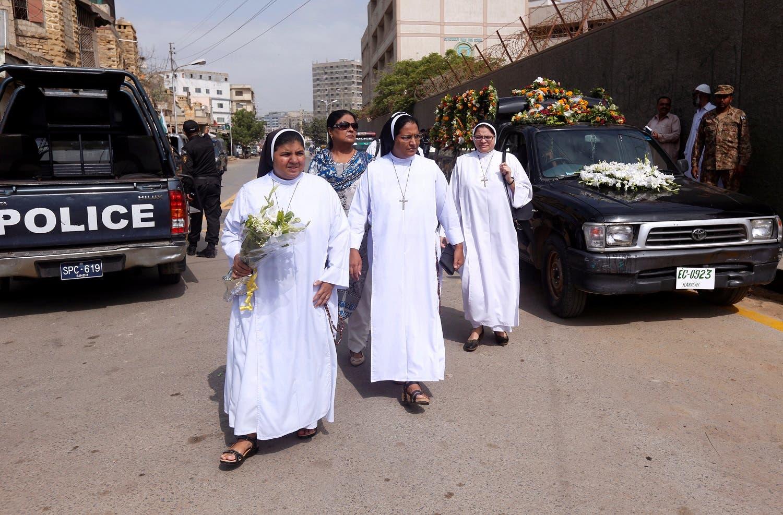 کراچی میں ننیں ڈاکٹر رتھ فاؤ کی آخری رسوم میں شرکت کے لیے آرہی ہیں۔