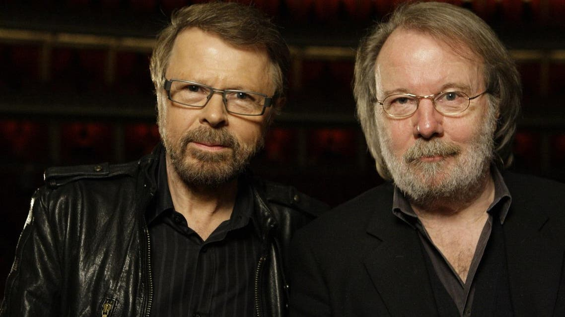 Swedish musicians Bjorn Ulvaeus (left), and Benny Andersson, formerly of Abba, pose at the Royal Albert Hall in London. (File photo: AP)