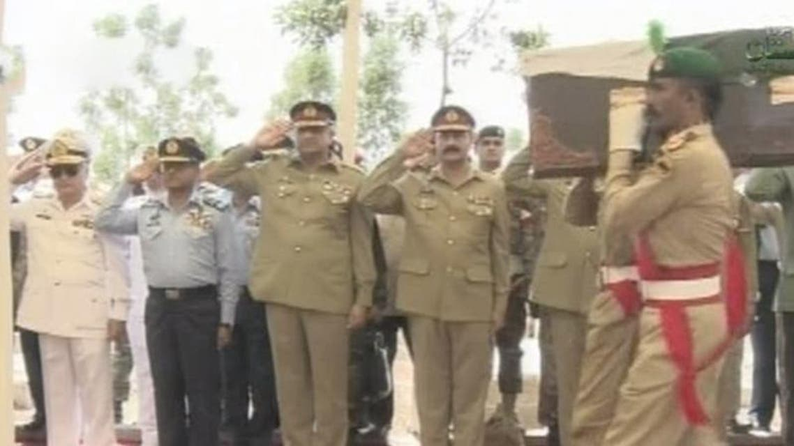 Pakistan Services Chiefs At Dr Ruth Burial