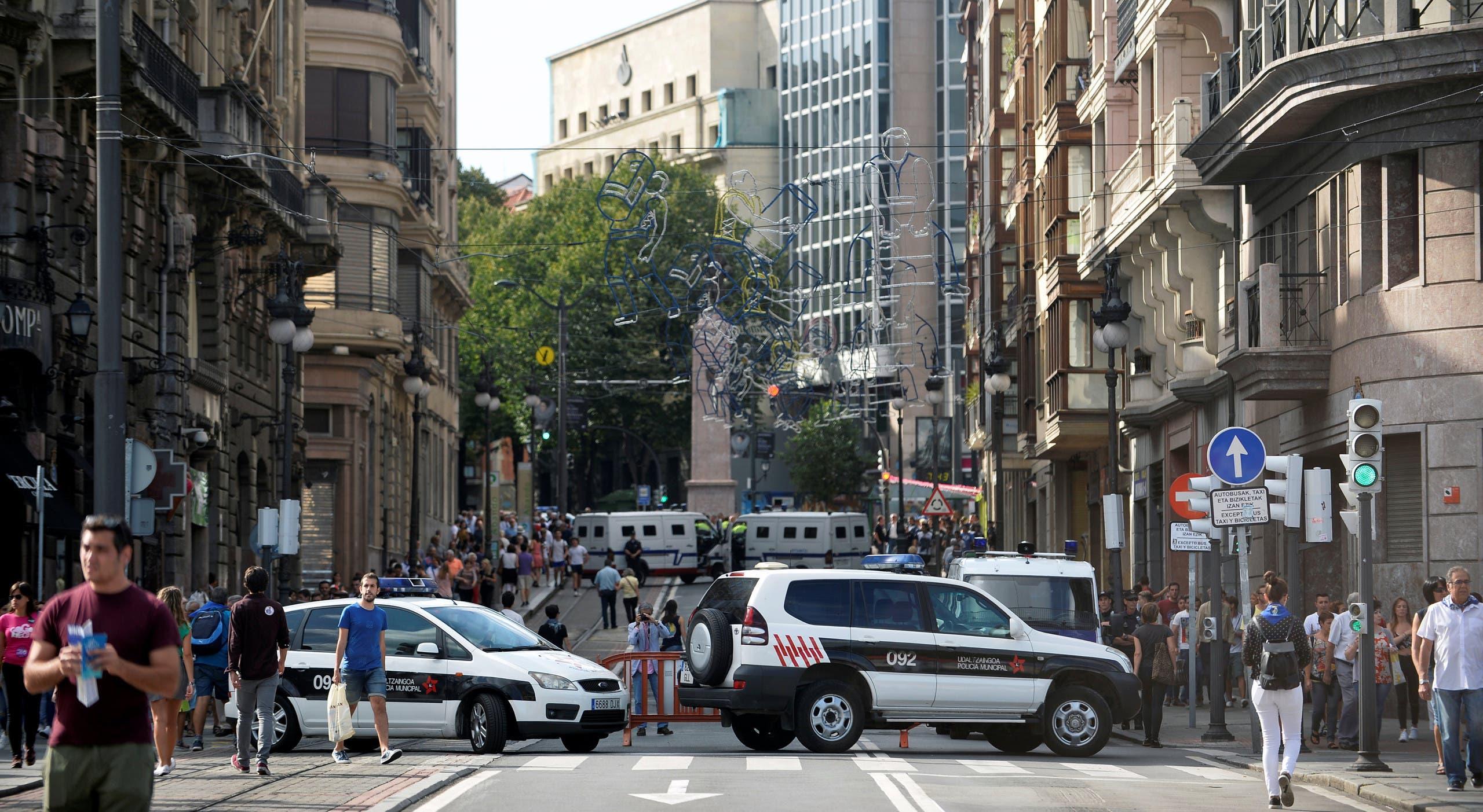 موقع عملية دهس شهدتها برشلونة مؤخرا
