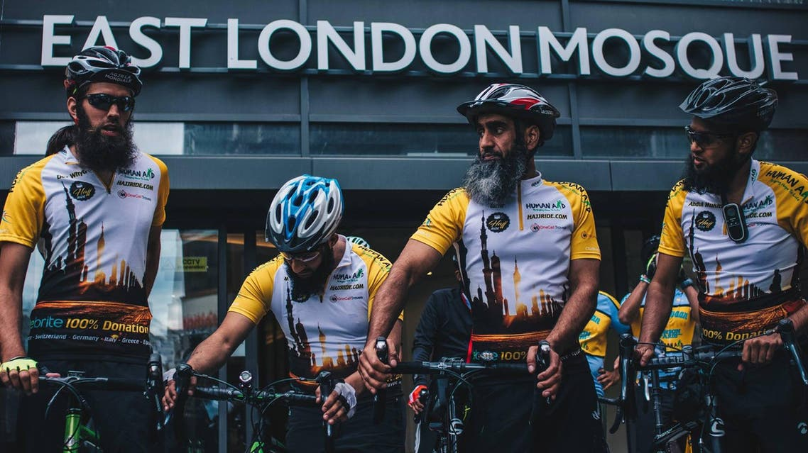 Nine British pilgrims bike 3,000 km from London to Medina for Hajj