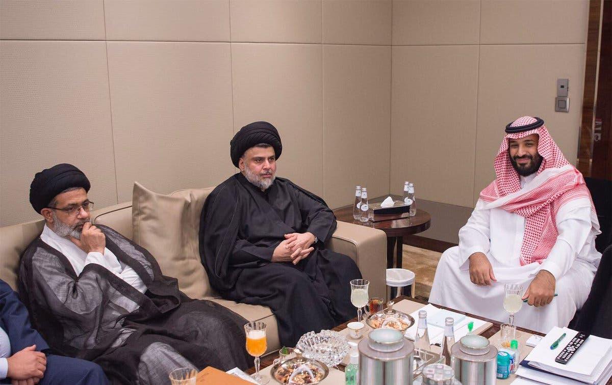 ولي العهد السعودي الأمير محمد بن سلمان يستقبل الصدر في السعودية (أرشيفية)