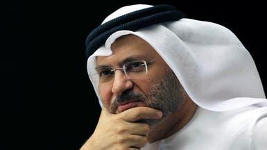 قرقاش ردا على تهديد الحوثي باستهداف الإمارات:هدفكم خسيس