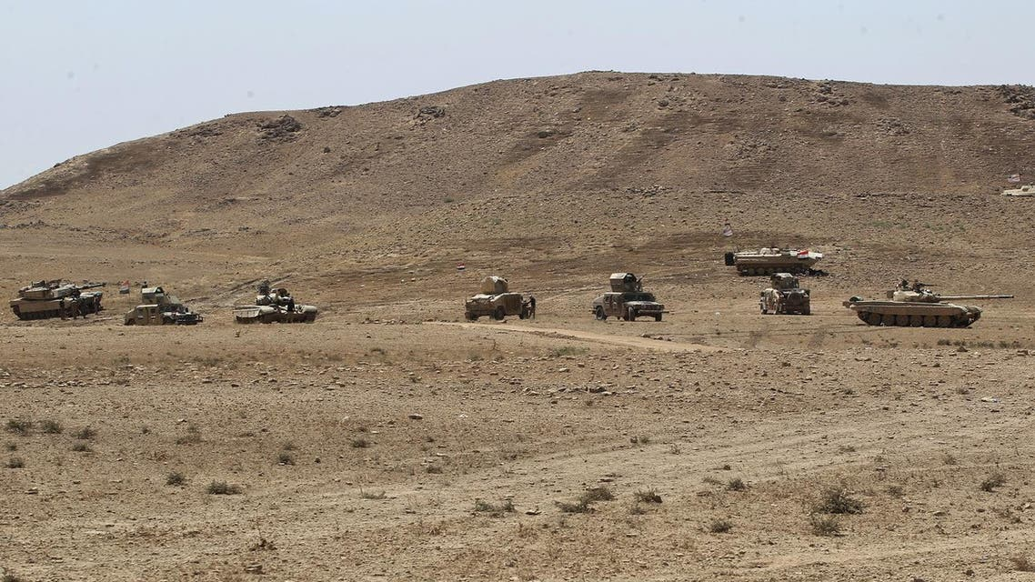 Iraqi forces advance towards the city of Tal Afar, the main remaining stronghold of ISIS, August 21, 2017. (AFP)