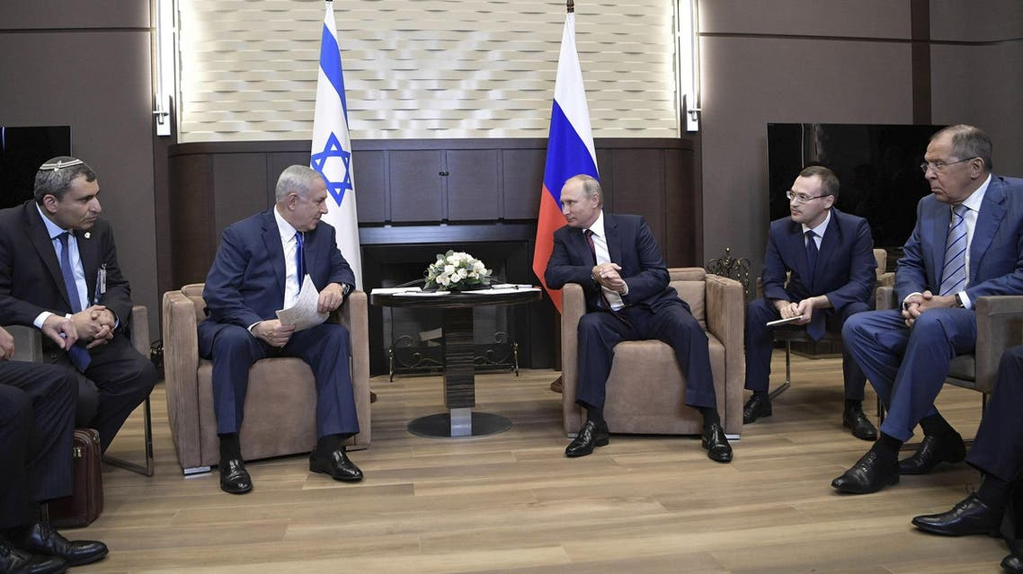 Vladimir Putin with Israeli Benjamin Netanyahu in Sochi, Russia, on August 23, 2017. (Reuters)