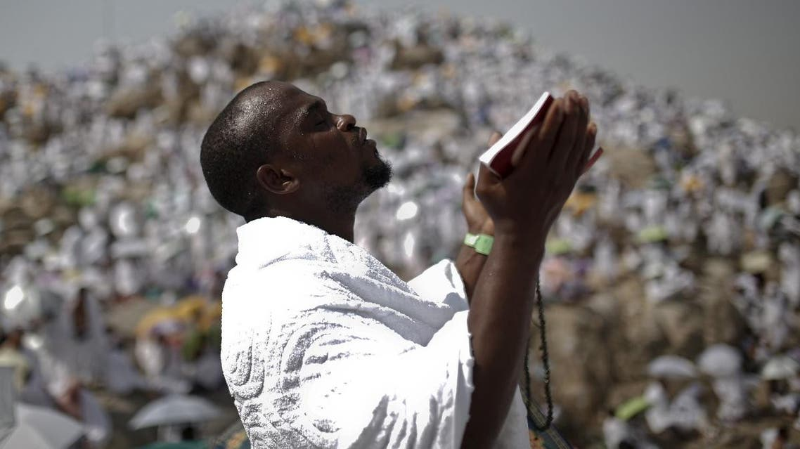 A Muslim pilgrim prays on Mount Mercy on the plains of Arafat during the annual haj pilgrimage, outside the holy city of Mecca. (File photo: Reuters)