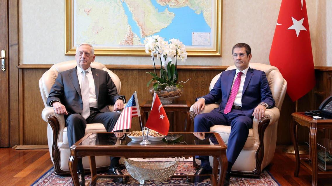 ماتيش في أنقرة مع وزير الدفاع التركي نور الدين جانيكلي