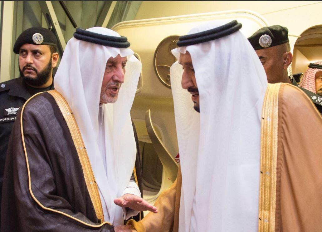 جانب من وصول الملك سلمان إلى جدة