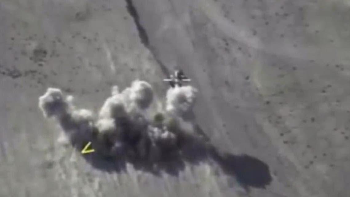 غارة روسية على داعش دير الزور