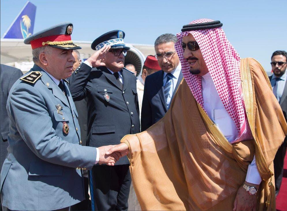 جانب من مغادرة خادم الحرمين الشريفين المملكة المغربية متوجهاً إلى جدة