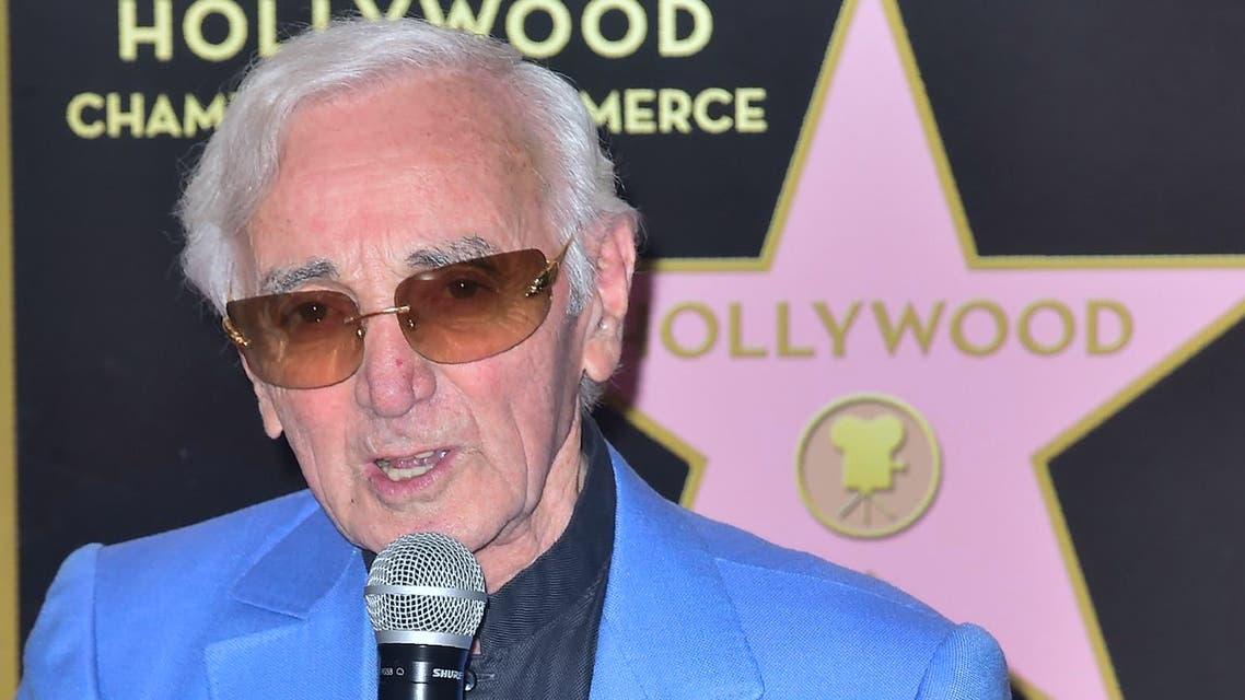 Singer Charles Aznavour receives his Hollywood Walk of Fame Star in the category of Live Performance on August 24, 2017 in Hollywood, California. (AFP)