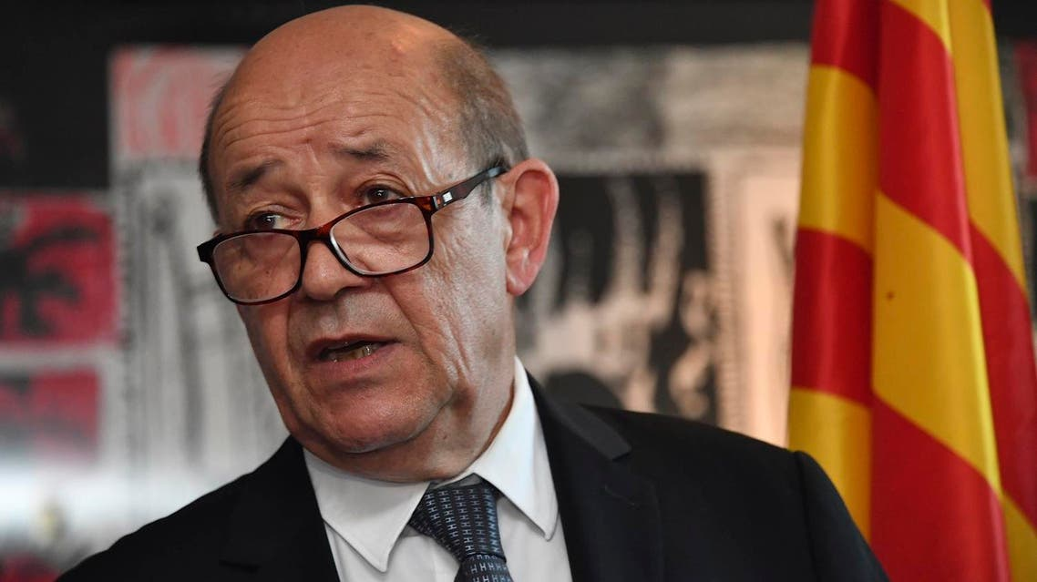 French foreign minister Jean-Yves Le Drian. (AFP)
