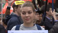Hundreds of Russians protest tighter internet controls