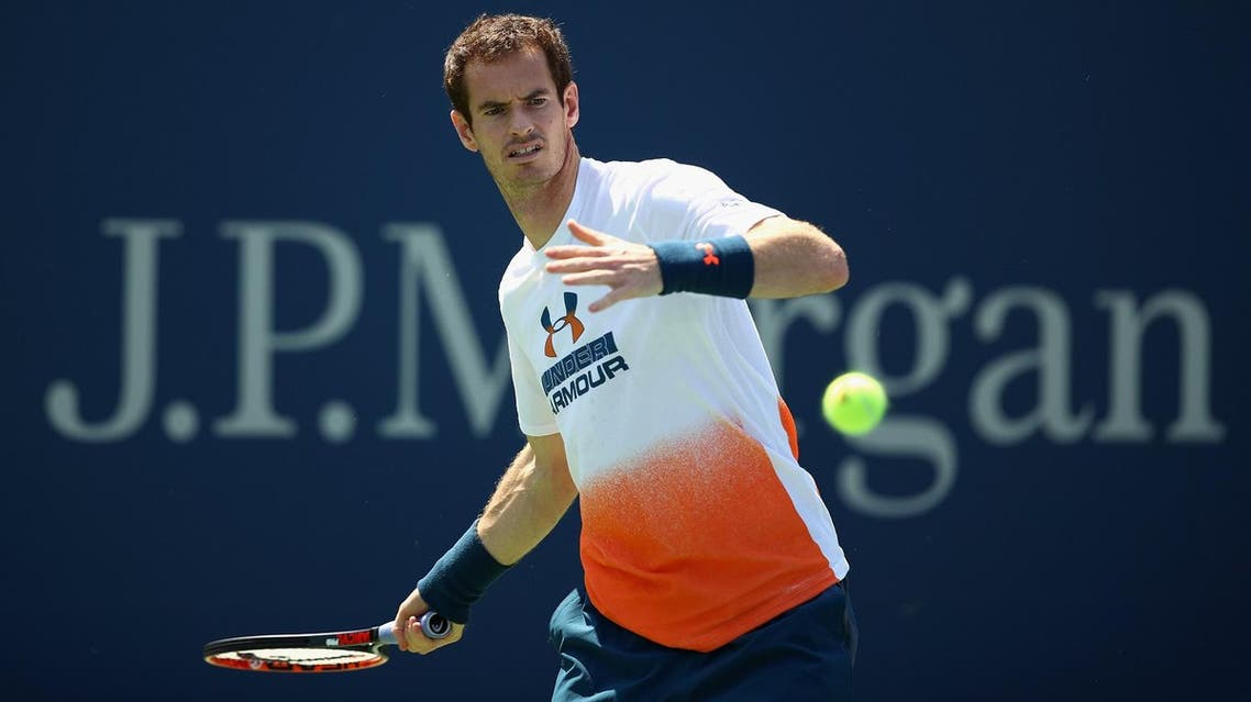 NEW YORK, NY - AUGUST 26: Andy Murray of Great Britian in action during a practice session prior to the US Open Tennis Championships at USTA Billie Jean King National Tennis Center on August 26, 2017 in New York City. Clive Brunskill/Getty Images/AFP