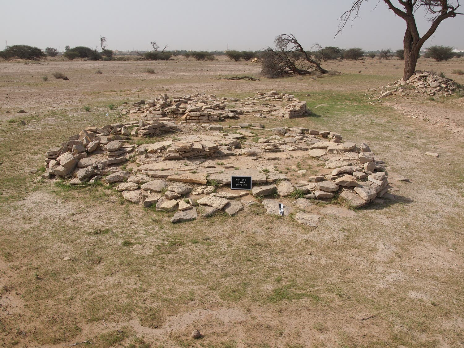 Two of the Bronze Age tombs located near Hili 8. The people who lived at Hili 8 were buried collectively in these tombs. (TCA Abu Dhabi)