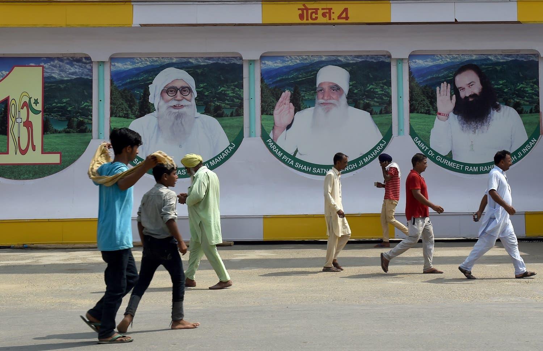 Followers of the controversial guru seen outside the 'Dera Sacha Sauda' ashram in Sirsa on August 27, 2017. (AFP)