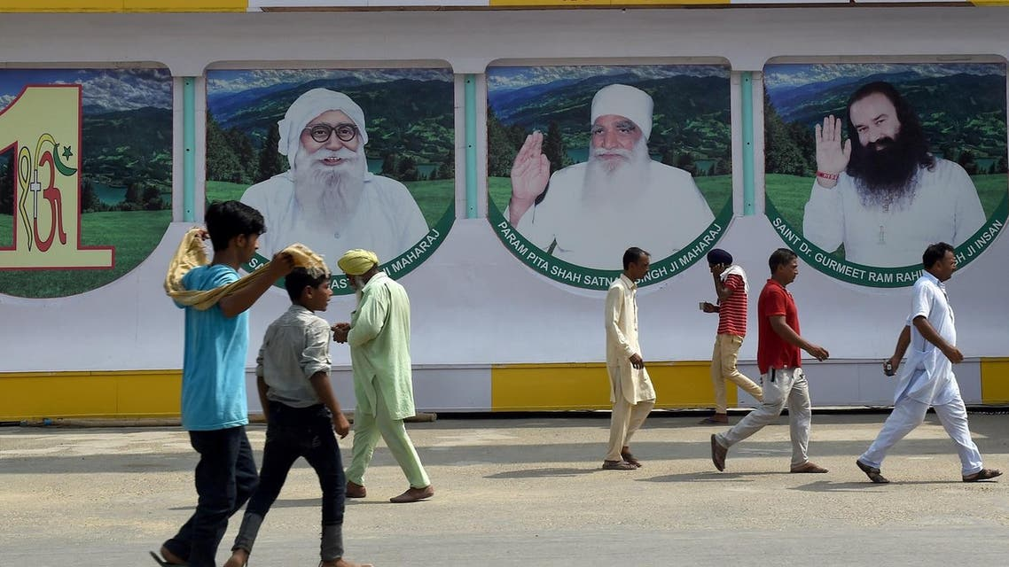 Followers of the controversial guru seen outside the 'Dera Sacha Sauda' ashram in Sirsa on August 27, 2017. (AFP)