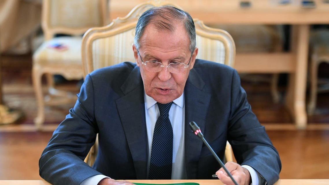 Russian Foreign Minister Sergei Lavrov meets with Vatican Secretary of State in Moscow on August 22, 2017. (AFP)
