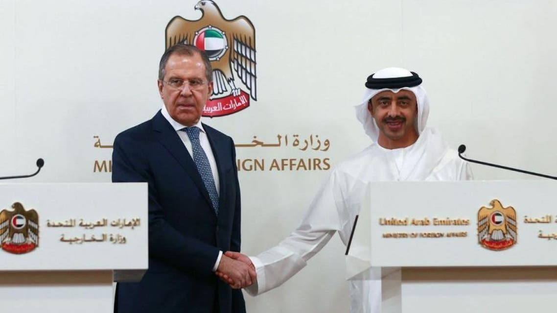 وزير الخارجية الإماراتي ونظيره الروسي