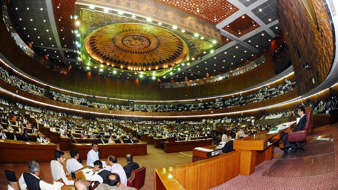 Pakistan's National Assembly passed a resolution on Wednesday condemning US President Donald Trump's accusations. (AFP)