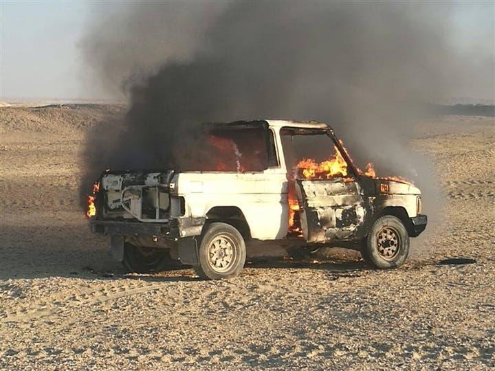 سيارة لإرهابيين في سيناء