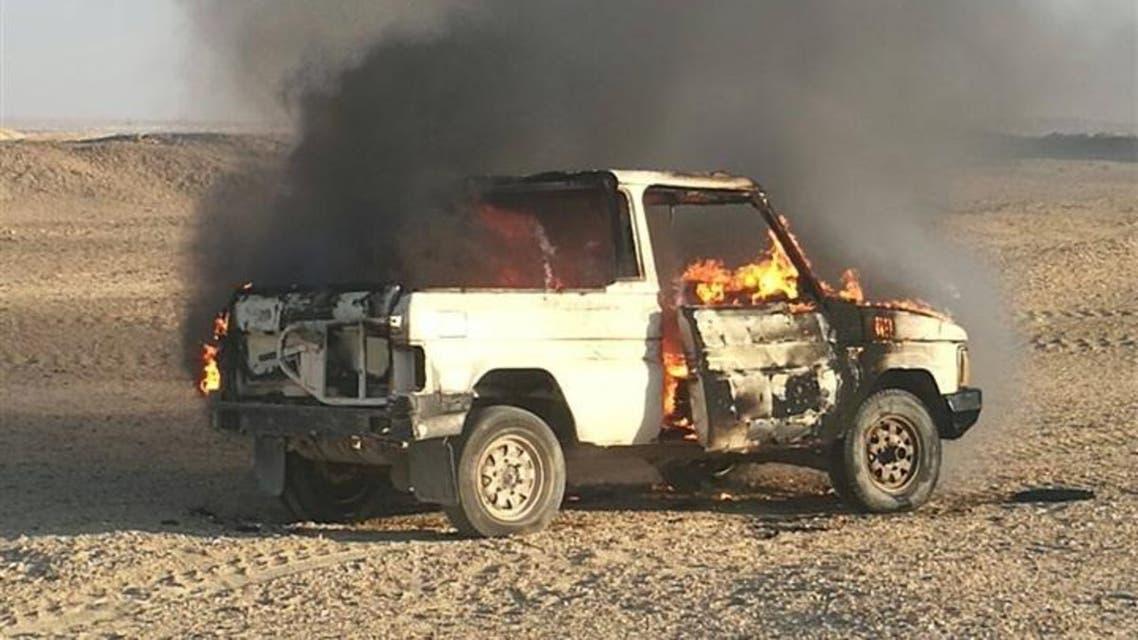 سيارة إرهابيين سيناء