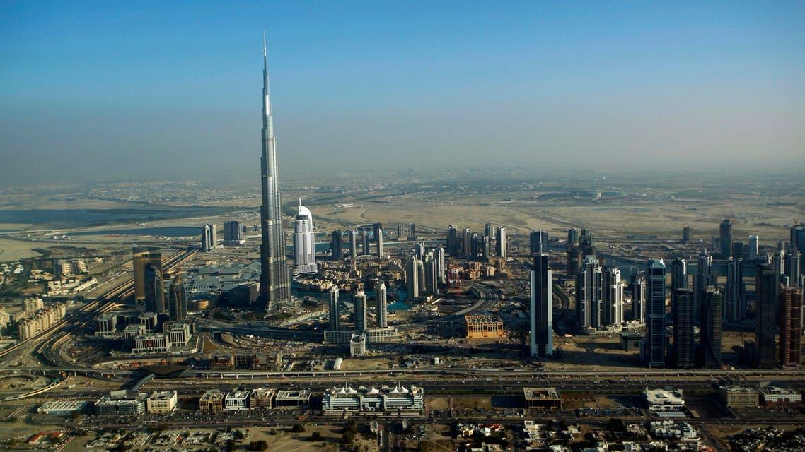Burj Dubai, the world's tallest building, seen at centre left, in Dubai, United Arab Emirates, Sunday, Jan. 3, 2010. AP