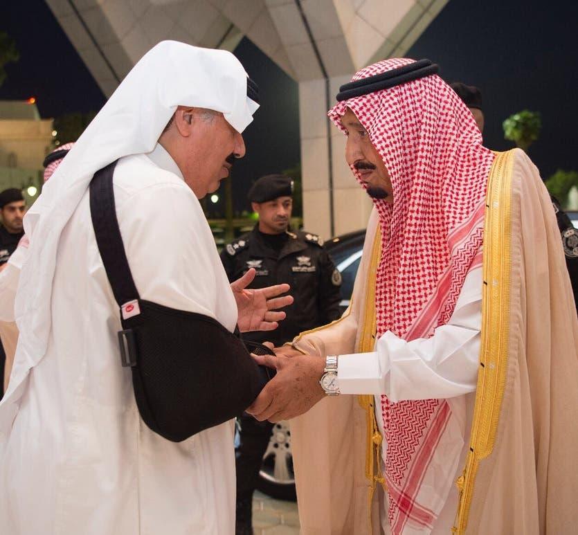 saudi king in mina SPA