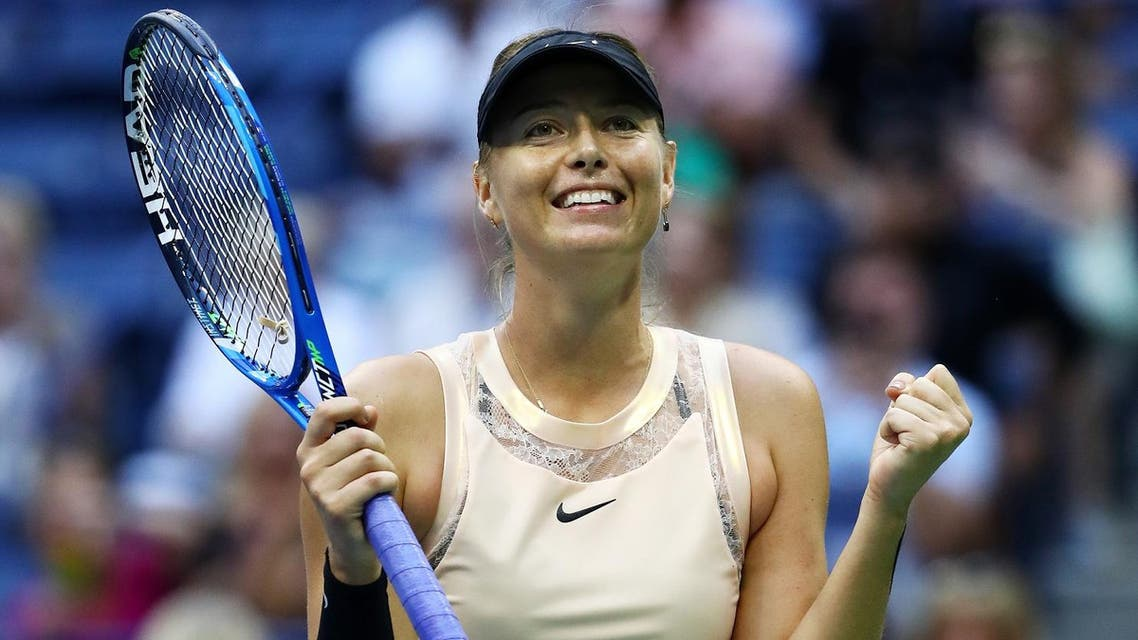 : Maria Sharapova of Russia celebrates after defeating Timea Babos of Hungary in their second round Women's Singles match on Day Three of the 2017 US Open. (AFP)