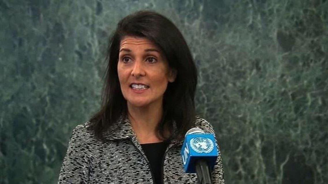 سفيرة أميركا لدى الأمم المتحدة نيكي هايلي