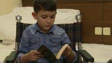 Syrian boy who screamed 'daddy pick me up!' after losing legs performs Hajj