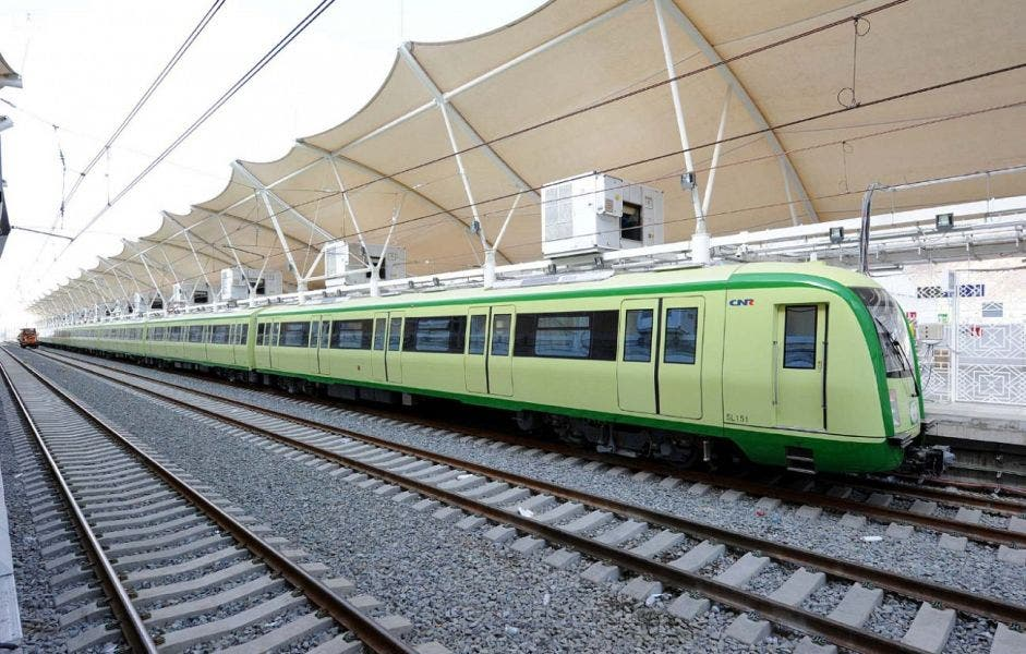 Trains carry pilgrims between the Holy sites. (SPA)