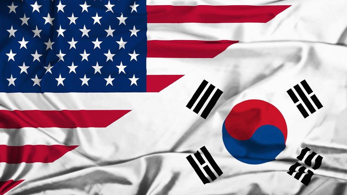 أعلام أميركا الولايات المتحدة - كوريا الجنوبية - واشنطن - سيول  3
