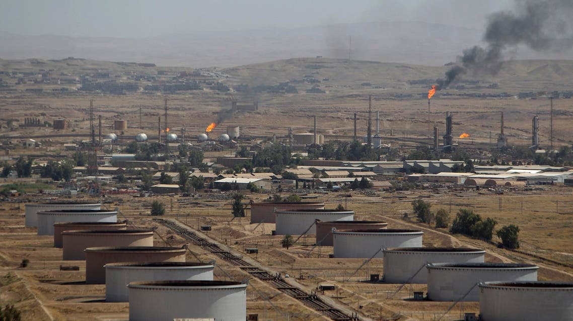 Flames are seen at the Baba Gurgur oil field in Kirkuk, 250 km north of Baghdad, August 10, 2010. (Reuters)